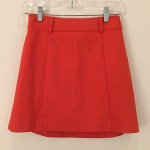 Express Red Mini Skirt